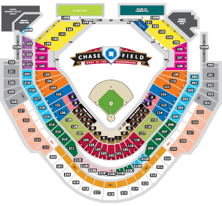 Arizona Diamondbacks Stadium Map Single Game Ticket Pricing | Arizona Diamondbacks