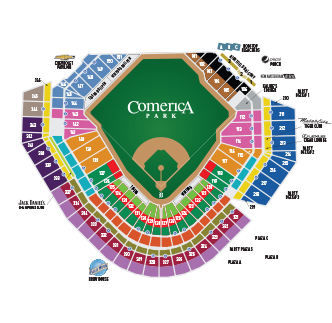 detroit tigers seating chart with seat numbers: Tigers individual game pricing detroit tigers