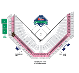 Phillies Stadium Seating Chart Elcho Table