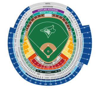 Rogers Centre Seat Map Single Game Ticket Pricing | Toronto Blue Jays